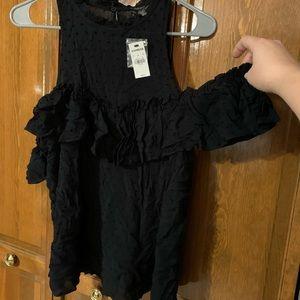 Express black blouse, cold shoulder